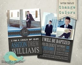 Baptism Invitation PHOTOSHOP TEMPLATE - Baptism Boy 01