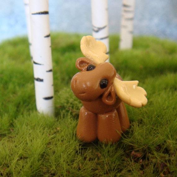 Cute Clay Moose- polymer clay