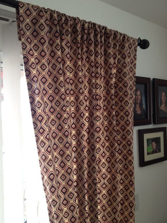 geometric patterned curtains