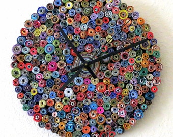 Wall Clock, Eco Home Decor, As Seen In Vogue, Home and Living, Decor and Housewsres, Home Decor