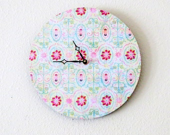 Bohemian Wall Clock, Decor and Housewares, Home Decor, Unique Wall Clock, Home and Living,  Shabby Chic Decor