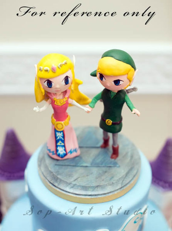 legend of zelda wedding cake topper custom wedding cake topper nintendo amp link tri 16788