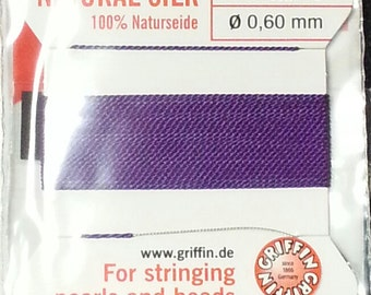 Size 4 Griffin Silk with Needle Amethyst