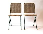 Vintage 1950s folding chairs