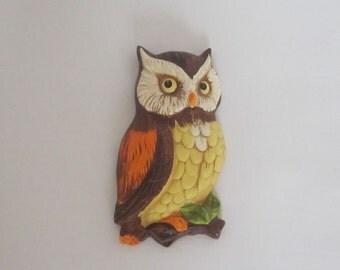 VINTAGE LEFTON OWL wall hanging