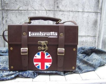 vintage hand made lambretta mods retro doctor  bag