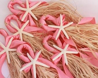 Coral Colored Wedding Starfish Decoration