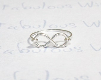 Infinity Ring, Sterling Silver Wire, Love and Friendship Ring