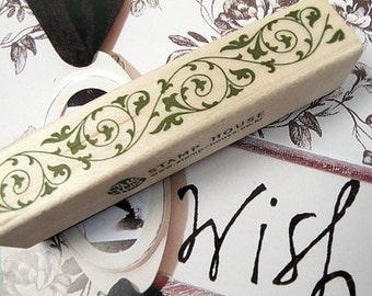 1Pcs Wooden Rubber Stamp - Vintage Style - Lace Edge