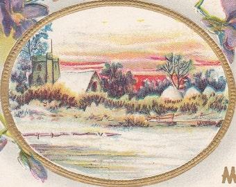 Ca. 1911 Birthday Greetings Postcard w/ Pastoral Scene - 731
