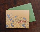 Letterpress Wedding Honeycomb Notecard