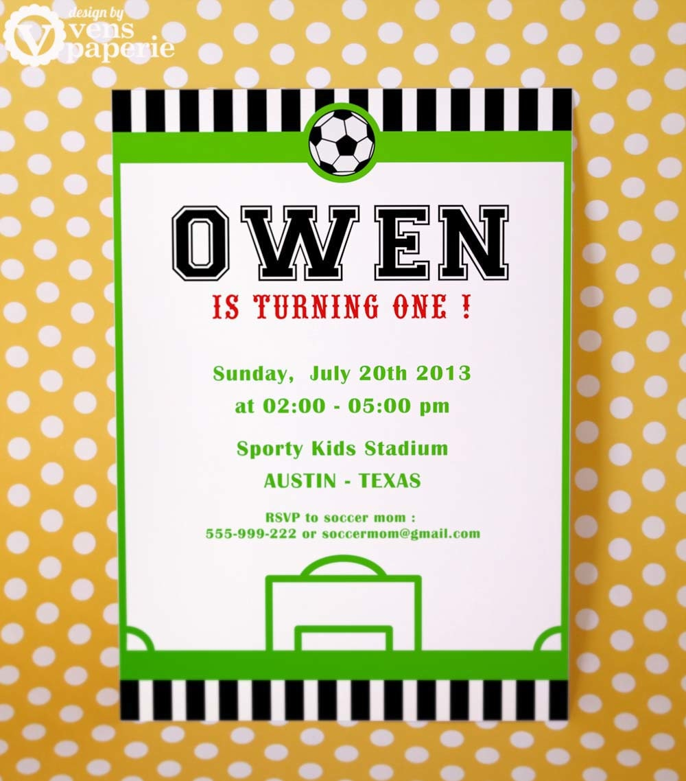 printable soccer birthday invitation cards - 28 images - birthday ...