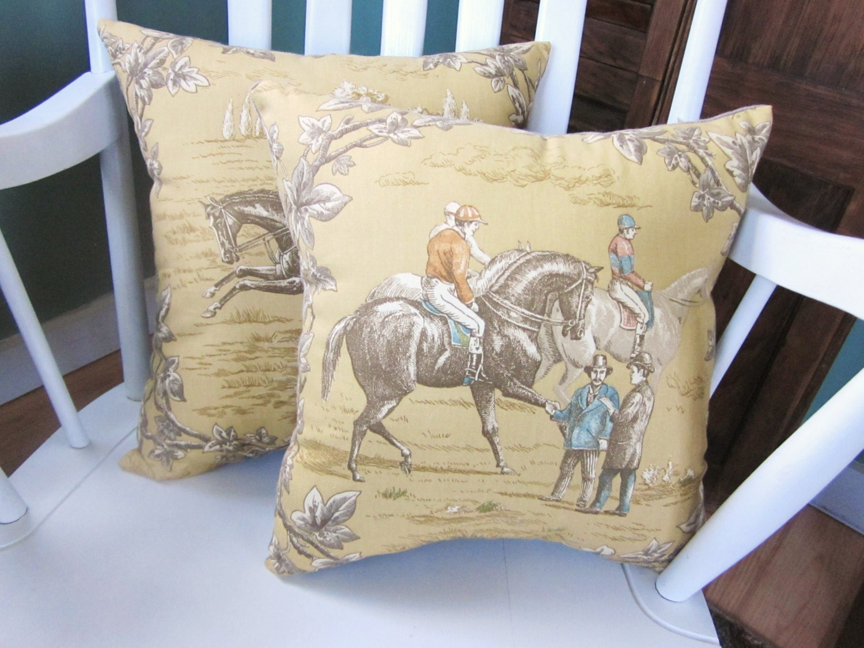 Decorative Horse Pillows : Decorative pillows waverly pillow set horse pillowshorses