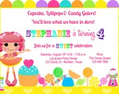 Printable Candyland & Lalaloopsy Birthday Invite