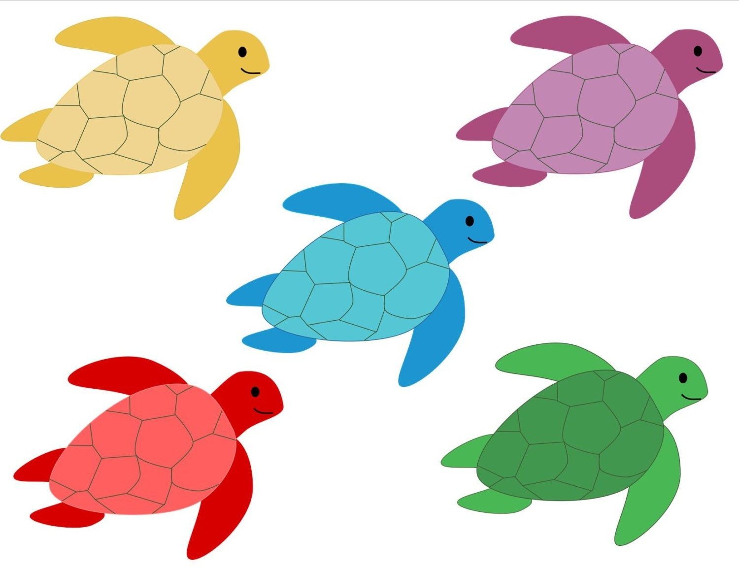 Sea Turtle Silhouette Clip Art Creative clipart digital