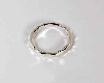 Hammered Ring, Sterling Silver, Made to Order