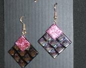 Dichroic Glass Earrings - Item 1-1549