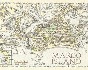 Marco Island, Florida - Two Sizes