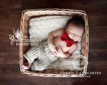 ORIGINAL- Little Man Outfit- Little Man Suit- Shorties- Designer Outfit- Vintage Baby- Bow tie- Newborn