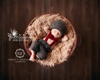 ORIGINAL- Little Man shortie Set- Baby Boy Outfit- Designer Outfit- Vintage Baby- Knit Pants- Bow Tie- Suspenders- Newborn