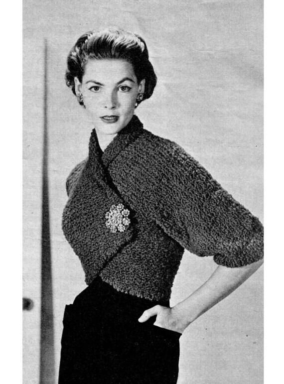 Vintage 50s Knit Shrug Jacket PDF Pattern INSTANT by kissproof