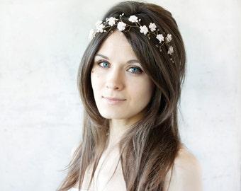 51_Hair accessories gold, Bridal tiara, Hair accessories bride, Wedding hair accessories, Pink tiara Hair accessories headband,Flower tiara