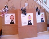 Bridesmaid gift bags/ Personalized Thank you for being my Bridesmaid Gift bag