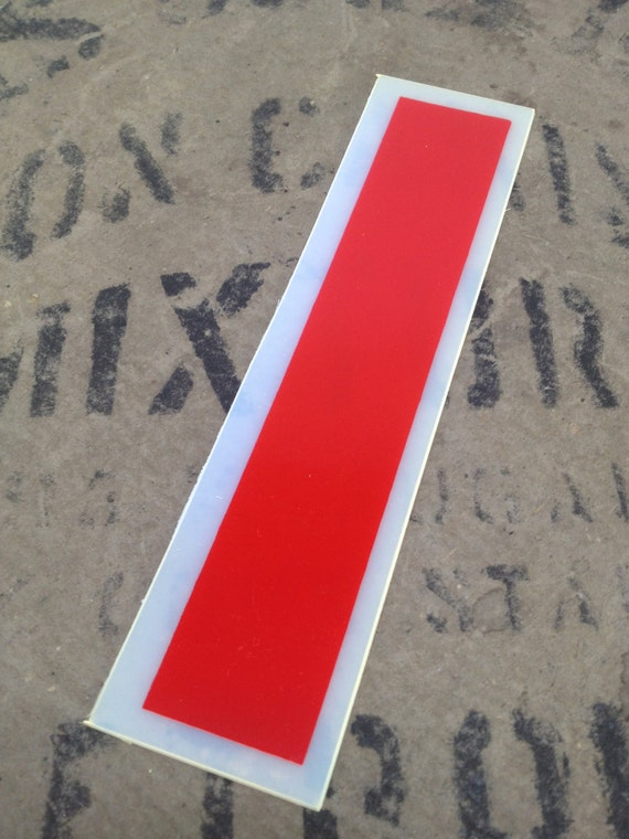 Red plastic letter i flexible letter red by avintageparcel for Small plastic letters for signs