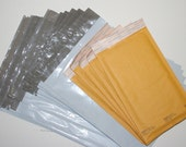 """Bubble Pack Mailers 5x10"""" Kraft #00 9x12"""" Poly Envelopes / 10x13"""" Poly Bags Shipping Supplies 15 Pc Starter Kit VarietyPack"""