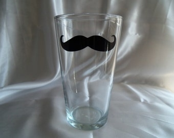 Six Mustache Glasses -  Groomsmen - Housewares - Glassware - Barware - Home&Living - Men - Mustache Glass - Mustache Glasses - Beer Glass