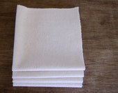 """Organic Unbleached Cotton Flannel Handkerchiefs Pocket (10X10"""") Size - Natural Tissue Alternative - Choose your Quantity and Thread Color"""