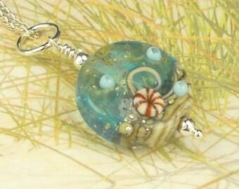Lampwork Bead Ocean Necklace