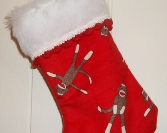 Sock monkey ornament | Etsy