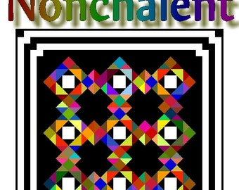 NONCHALENT - Quilt-Addicts Patchwork Quilt Pattern