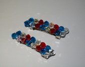 Pair of Beaded Barrettes