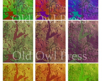 Printable ATC backgrounds grunge