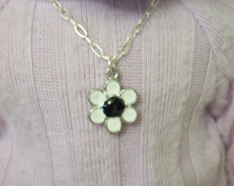 "American Girl 18 "" inch Doll and Girl Silver Black and White FLOWER  Necklace Jewelry Accessories Bracelet Child"
