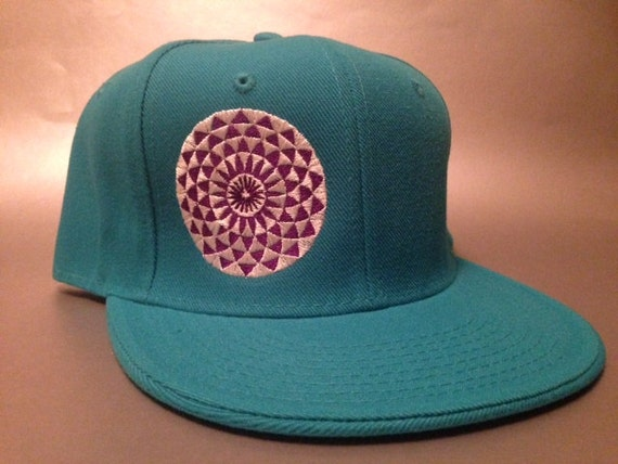 Crop Flower Fitted Hat made to order flat bill crop circle FREE SHIPPING