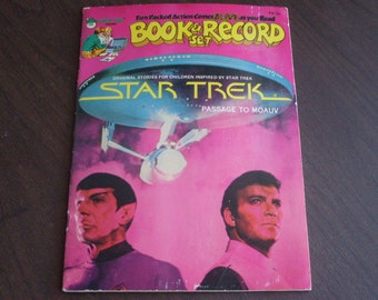 Vintage Star Trek,Passage To Moauv, Book and Record Set 1979