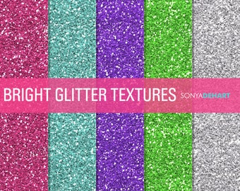 80% OFF Sale Glitter Digital Paper Bright Glitter Textures Printable  Commercial Use