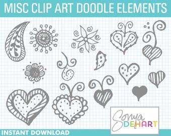 80% OFF Sale Doodle Clipart, Hand Drawn Clipart, Clipart Paisley, Clipart Doodles, Clip Art Doodles, Clip Art, Clipart, Clipart Hearts