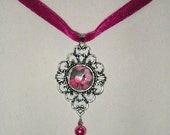 Romantic Velvet Rose Choker