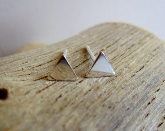 Triangle Sterling Silver Stud Earrings
