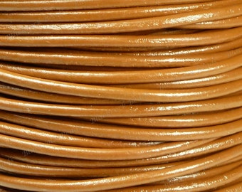 2mm Premium Light Brown Leather Cord - 3 Yards / 9 Feet / 2.74 Meters - BL24
