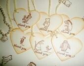 Winnie the Pooh favor tags-Wedding favor tags-piglet-eeyore-owl-tigger-kanga-Baby shower favors-24