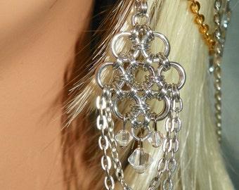 Chandelier Chainmaille Earrings