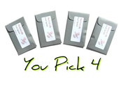 You Pick Scents Mini Lavender Sachets Set Scented Seed Packet Favors Personalized DIY Aromatherapy Sampler Modern Home Decor Grey Party