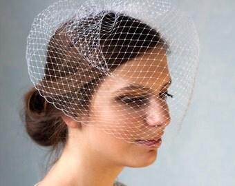 Full birdcage veil, bridal veil, french Birdcage