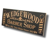 Barber Shop Sign Personalized Man Cave Sign Business Sign Business Sign Personalized Sign Custom Business Sign Maple BS