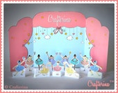 Ballerina Playtime Tableau Set - PDF Download - Printable- DIY Craft Kit - Party Activity - Child Toy - Play & Pretend